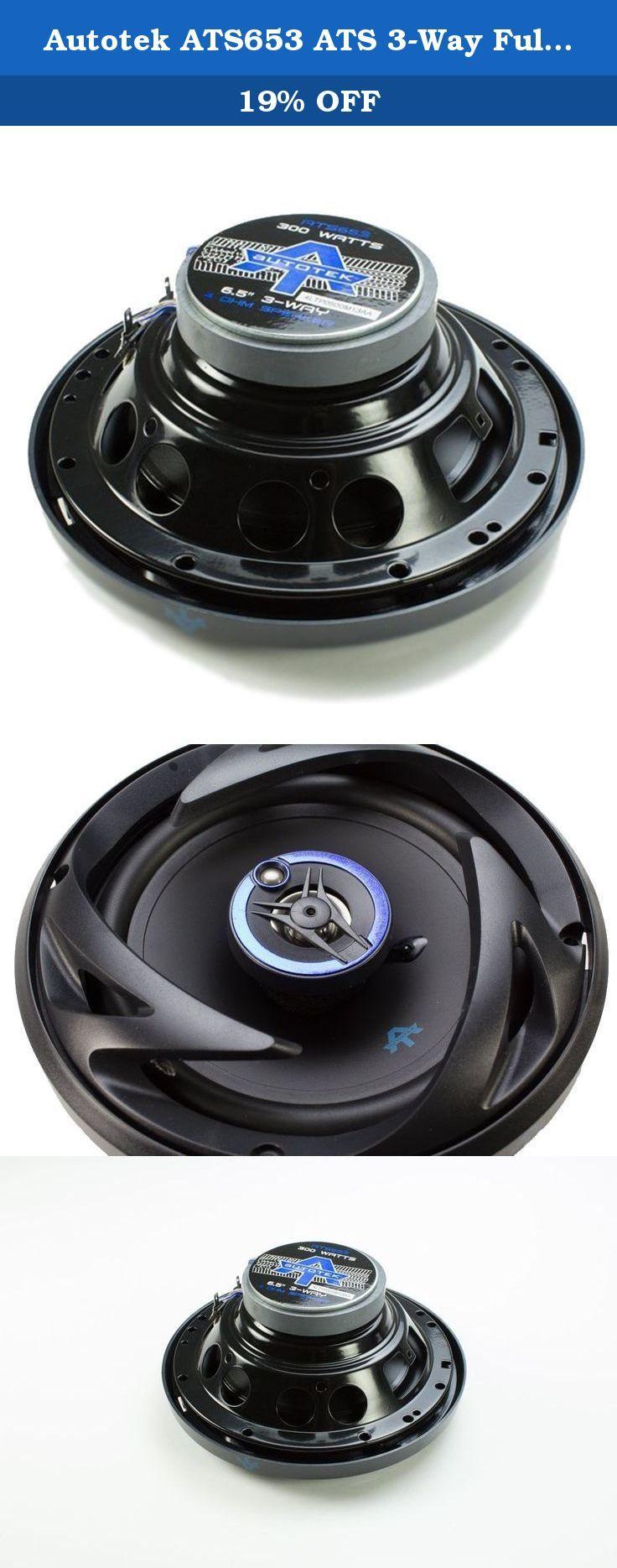 Autotek ATS653 ATS 3Way Full Range Speaker, 6.5Inch, Set