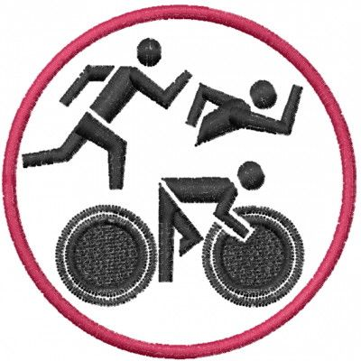 Circles Embroidery Design: Triathlon from Machine Embroidery Designs
