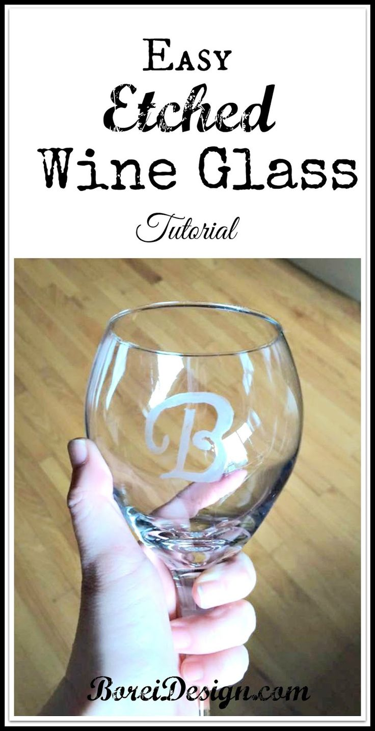 How to create beautiful etched monogram glassware on a for Glass painting templates