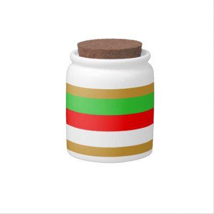 Tajikistan flag stripes candy jars - patterns pattern special unique design gift idea diy
