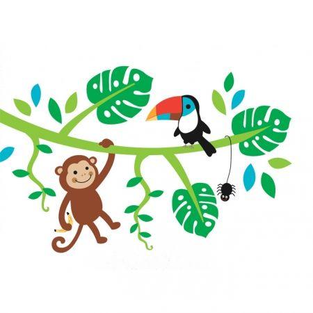 Forwalls muurstickers aap, toekan en spin