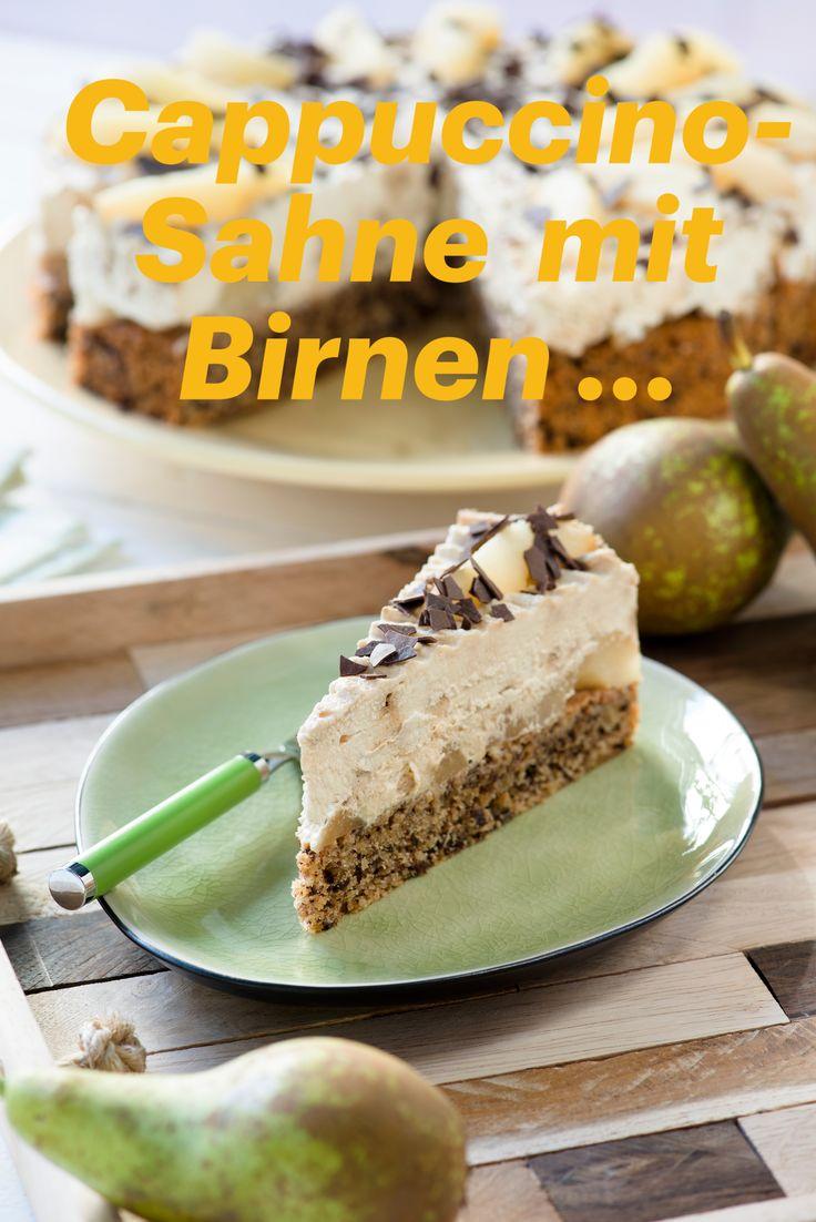 Ein Cappuccino mit Birne   – 100 Torten, Kuchen und mehr