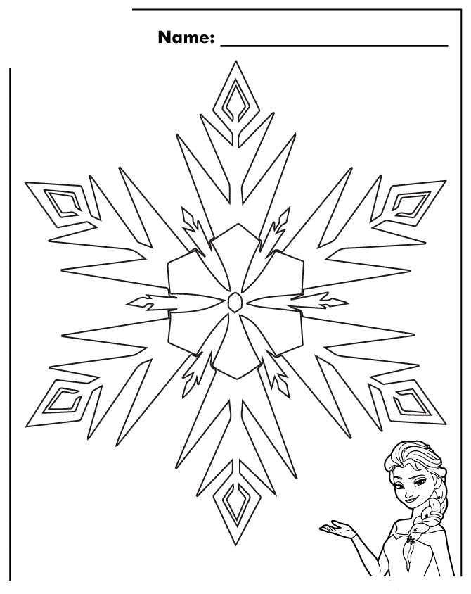 Frozen Snowflakes Coloring Sheet With Images Snowflake