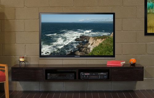 Wall Mounted Floating Tv Console Mayan Espresso Home