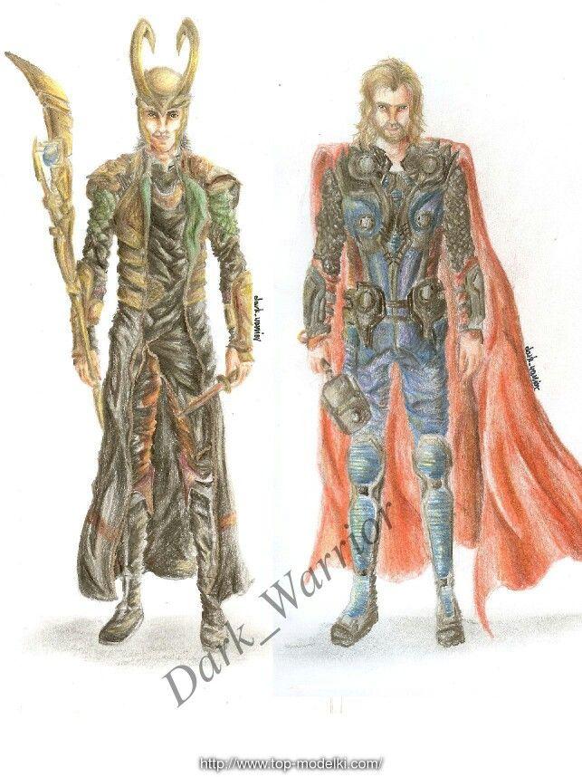 Loki and Thor by: Dark_Warrior  Artwithdarkwarrior.blogspot.com