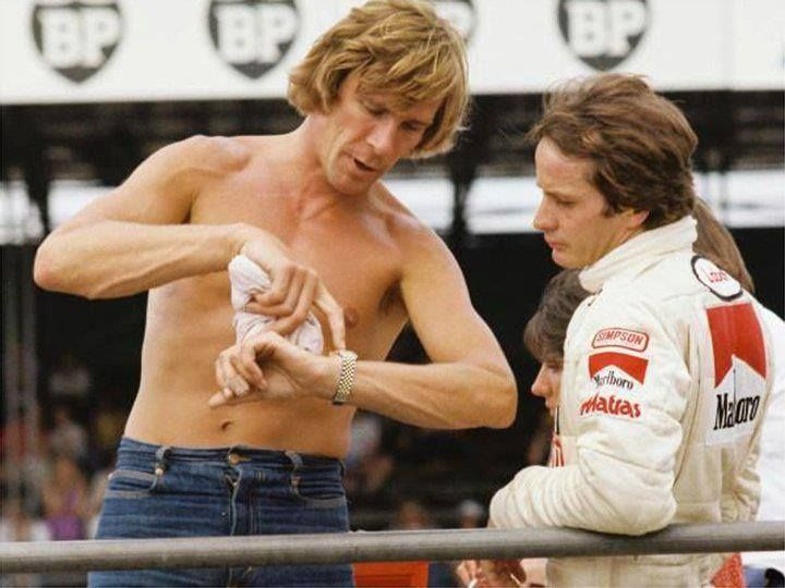 Gilles Villeneuve and James Hunt