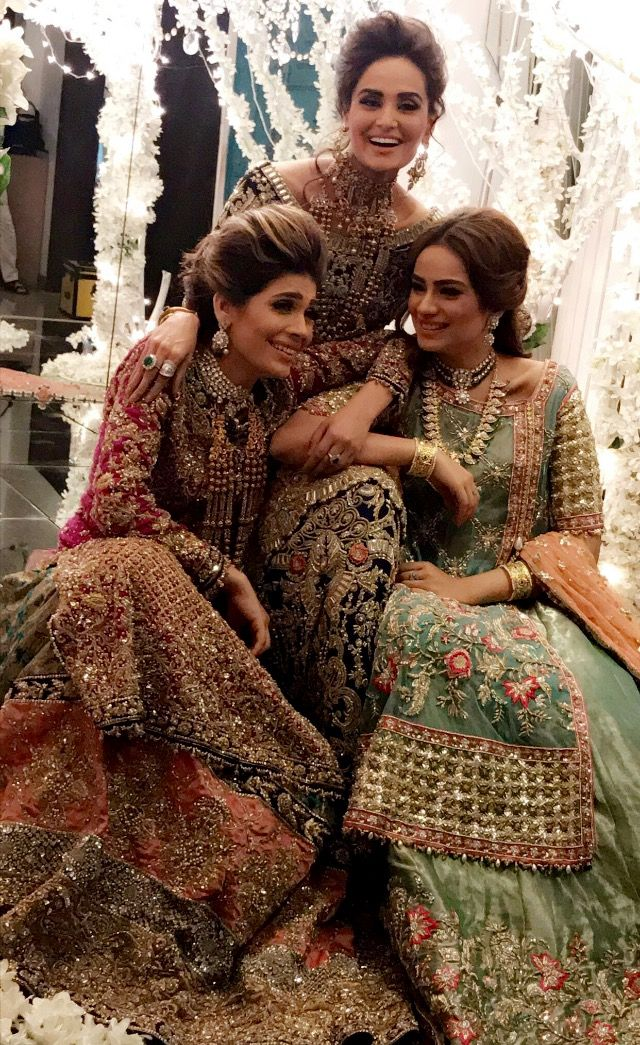 Bridal dresses. The heavy work #zardozi  the jewellery  is all so appealing.  The beuty of wedding moments .