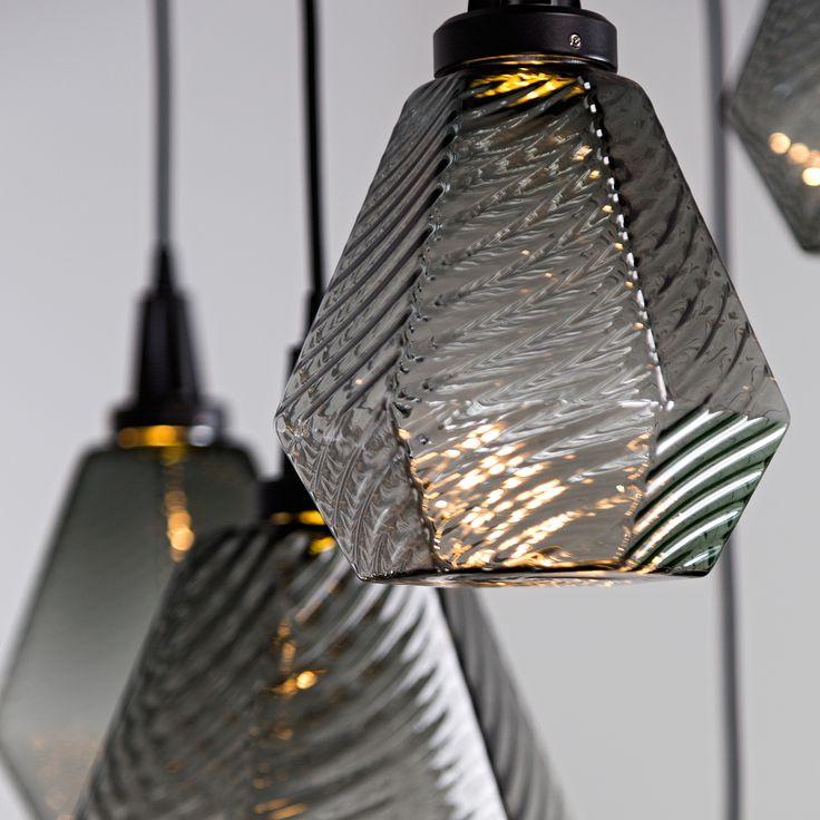 Hammerton Studiou0027s blown glass optic motifs beautifully