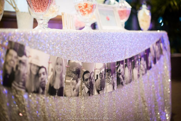 Such a sweet idea to use your photos as wedding decorations!  ~Sydney wedding photography by Yulia Photography~ www.yuliaphotography.com.au