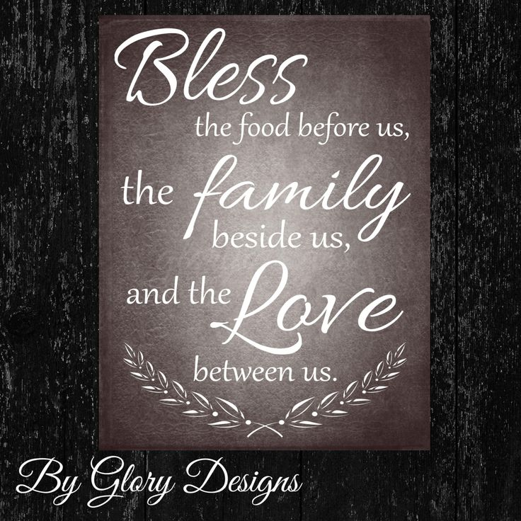 Kitchen Blessing Wall Decor: Kitchen Printable, Bless The Food Before Us Quote, INSTANT