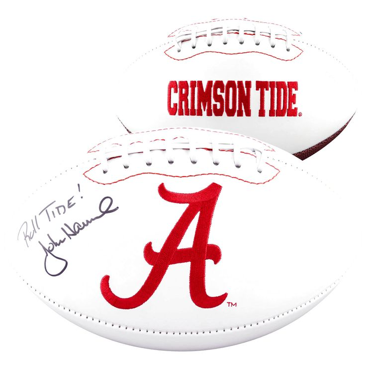 John Hannah Alabama Crimson Tide Fanatics Authentic Autographed Logo Football with Roll Tide Inscription - $103.99