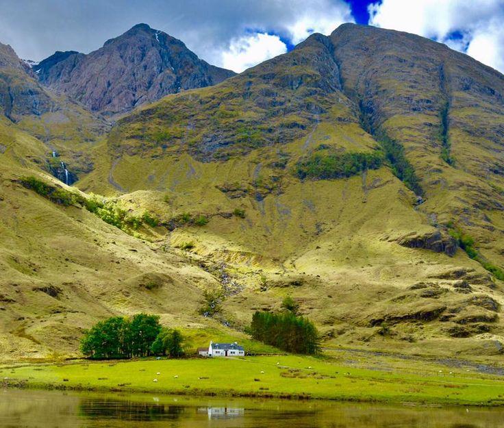 Dream Home in Scotland - a loch, a waterfall & a mountain