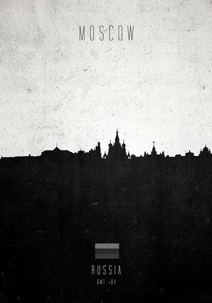 Moscow City Skylines Minimalist Print