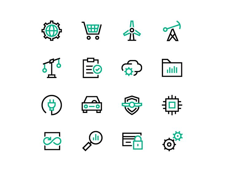 HPE Iconography by Zach Roszczewski #Design Popular #Dribbble #shots