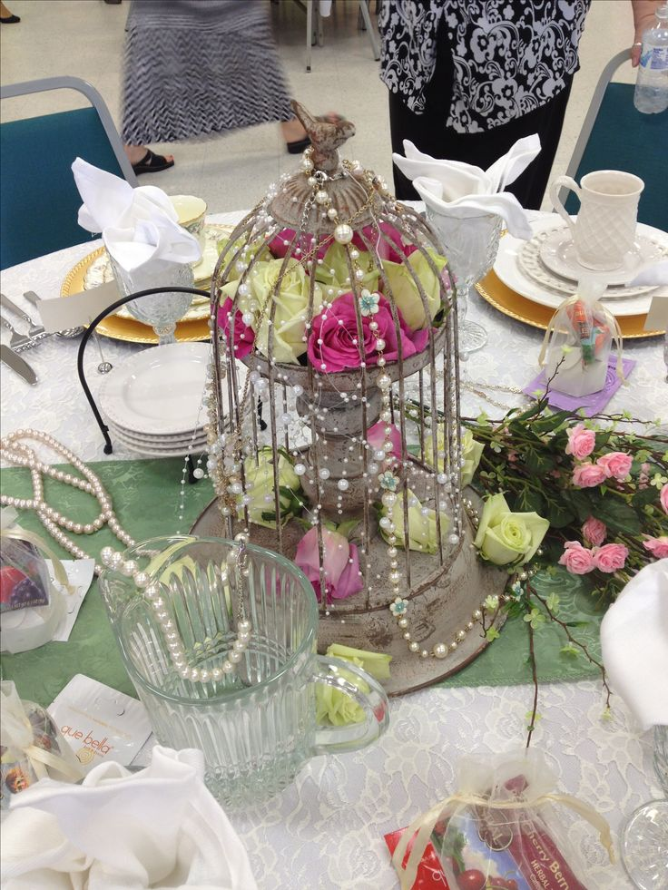 centerpiece for pearls and lace centerpiece tea party