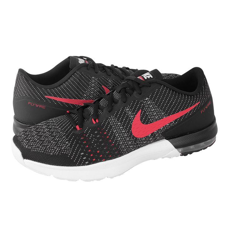 Air Max Typha - Ανδρικά αθλητικά παπούτσια Nike από υφασμα και συνθετικο με υφασμάτινη φόδρα και συνθετική σόλα.  Διατίθεται σε χρώμα Μαύρο-Κόκκινο.