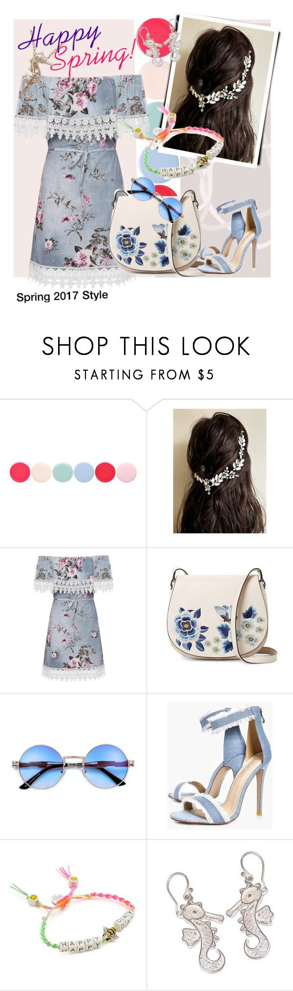 """""""Spring 2017 Style"""" by andrea-pok on Polyvore featuring Nails Inc., WearAll, French Connection, Boohoo, Venessa Arizaga and NOVICA"""