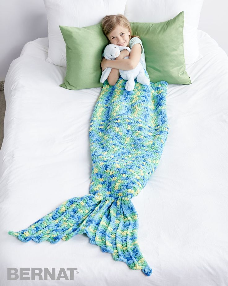 My Mermaid Crochet Snuggle Sack - easy (free pdf instructions & video)