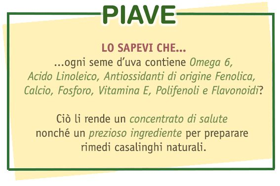 Olio Piave olio di semi d'uva - grapeseed oil omega 6 vitamine e polifenoli