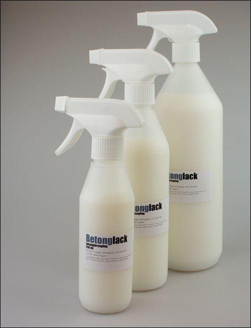 Betonglack för inom- och utomhusbruk Betonglack fungerar även som sealer. Binder damm och kalk i betongen.  Perfekt för köksbänk i betong, matsalsbord mm