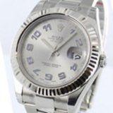 Rolex Datejust II Silver Arabic Dial Mens Replica 116334SAO