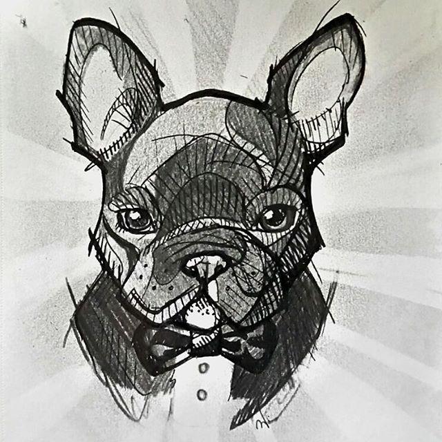🐶 #skech #drawing #pen #frenchbuldog #puppy #love #art #blackandwhite #loveart #przegladinstagrama #loveanimals