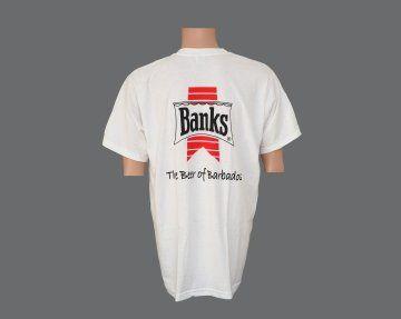 Banks Image White Tee Shirt. #BeerWear #Caricraft #Caribbean #Shopping #tshitrs