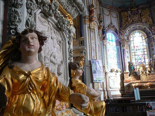 La chaire de l'église de Saint-Thégonnec, Finistère, Bretagne