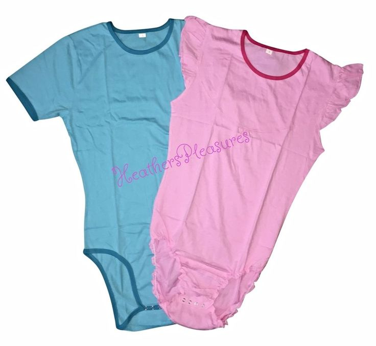 Details About Romper Onesie Abdl Adult Size Baby Snap