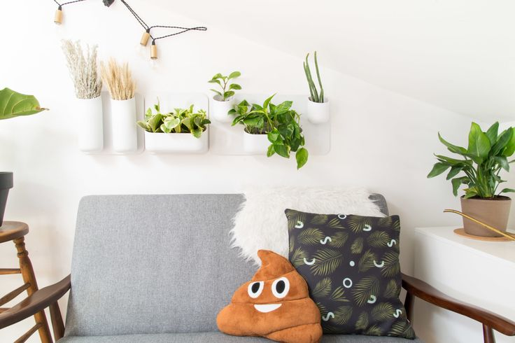 "The <a href=""https://society6.com/product/tropical-neon_pillow#25=193&18=126"" target=""_blank"">pillow</a> (not the poop one) was designed by the Ghostly Ferns team and can be found on <a href=""https://society6.com/product/tropical-neon_pillow#25=193&18=126"" target=""_blank"">Society6</a>! You can find the <a href=""http://www.amazon.com/Etosell-Stuffed-Pillow-Cushion-Shaped/dp/B00RVDBI64"" target=""_blank"">poop emoji pillow here</a> if you're so inclined."