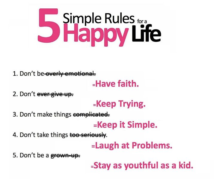 To happy life :)