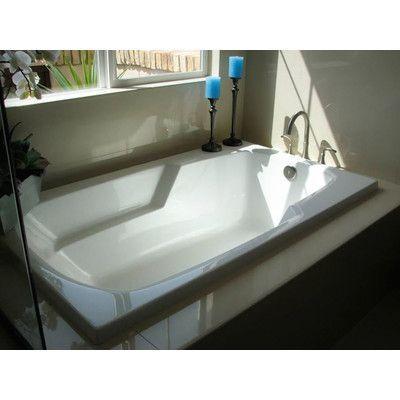 "Hydro Systems Designer Solo 54"" x 30"" Soaking Bathtub & Reviews   Wayfair"