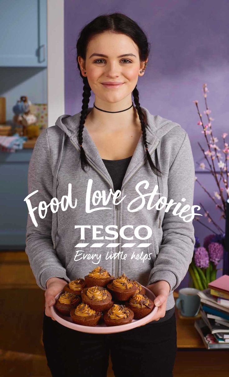 Try 'Alice's' chocolate cupcakes from our Food Love Story. Unable to find the right words to apologise after a row with her stepmum, Alice turns to the powerful language of cupcakes. To her relief, it works!   Tesco