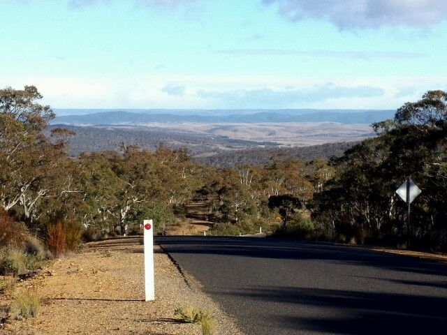 view from Jerangle road NSW towards Cooma