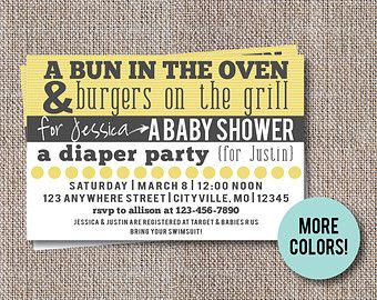 Couples Baby Shower Invitation Co-ed Baby Shower by creativelime