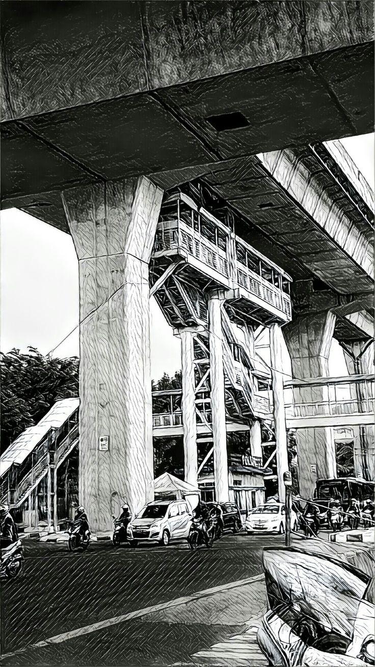 Busway Project Coridor 13, Jakarta.