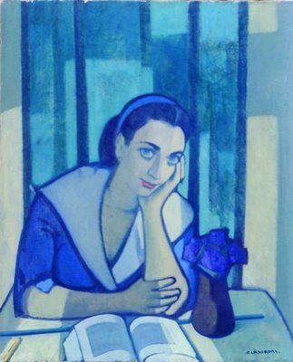 CASORATI, Felice (1883-1963) - Italian artist: 'Germana' (the artist's sister)