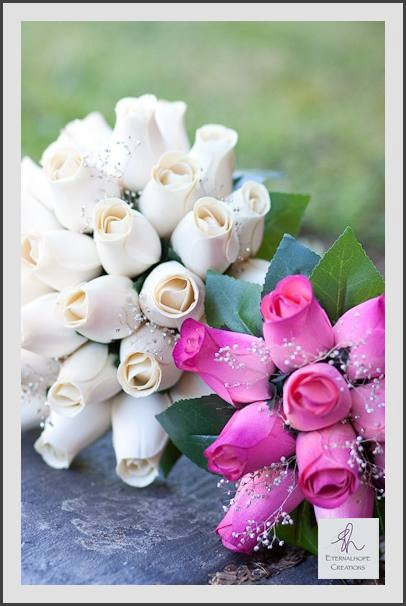bridal and flowergirl bouquets, image by eternalhope creations
