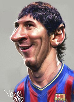 Caricature Messi