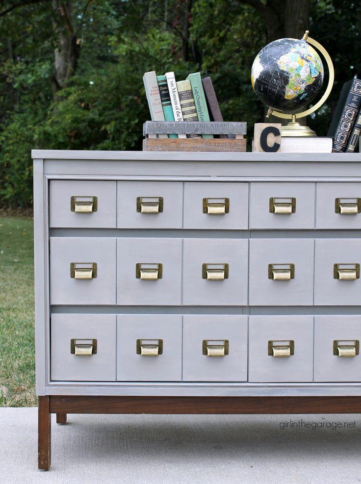 Diy Card Catalog Dresser Dresser Makeover Furniture Diy Painting Furniture Diy