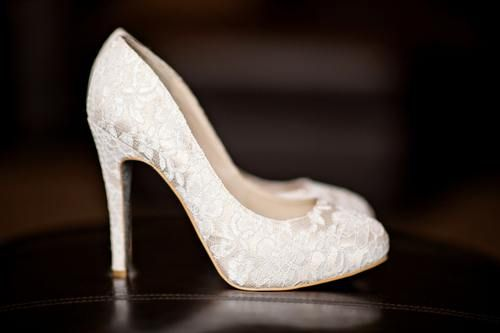 THESE ARE THE PERFECT WEDDING SHOES...I love them like this, but what if the lace could be the red I want? WHAT IF!?