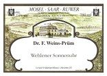 Dr. F. Weins-Prum Wehlener Sonnenuhr Riesling Spatlese, Mosel, Germany. light n easy, fruit + sparkling, drink whole bottle on same day since it will be super sweet the next day.