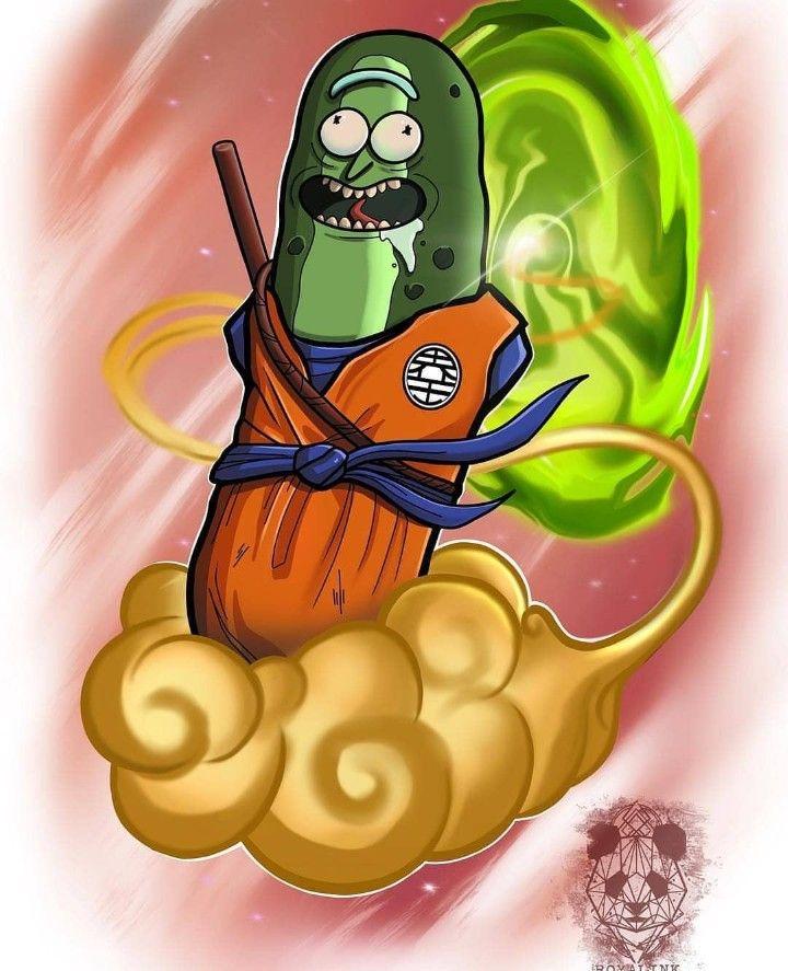 Rick And Morty X Super Saiyan Pickle Rick Rick And Morty Tattoo Rick And Morty Rick And Morty Poster