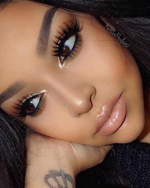 Recommended - Glitter Eyes  Pink Lips #Fashion #Trend