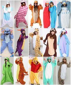 Unisex Pajamas Kigurumi Adult Anime Cosplay Pyjamas Costume Animal Onesies S~XL   eBay