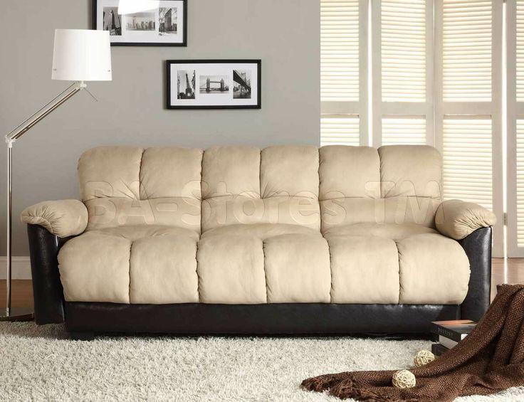 piper microfiber and bicast vinyl elegant loungersofa bed he4802mfr