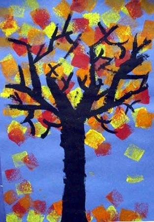 Warm Trees - Artsonia Lesson Plan