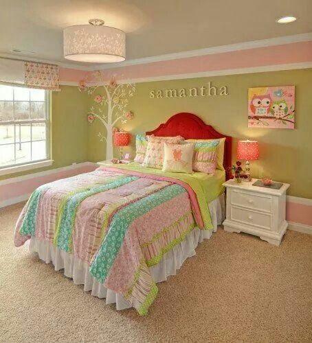 Simple cute girls room