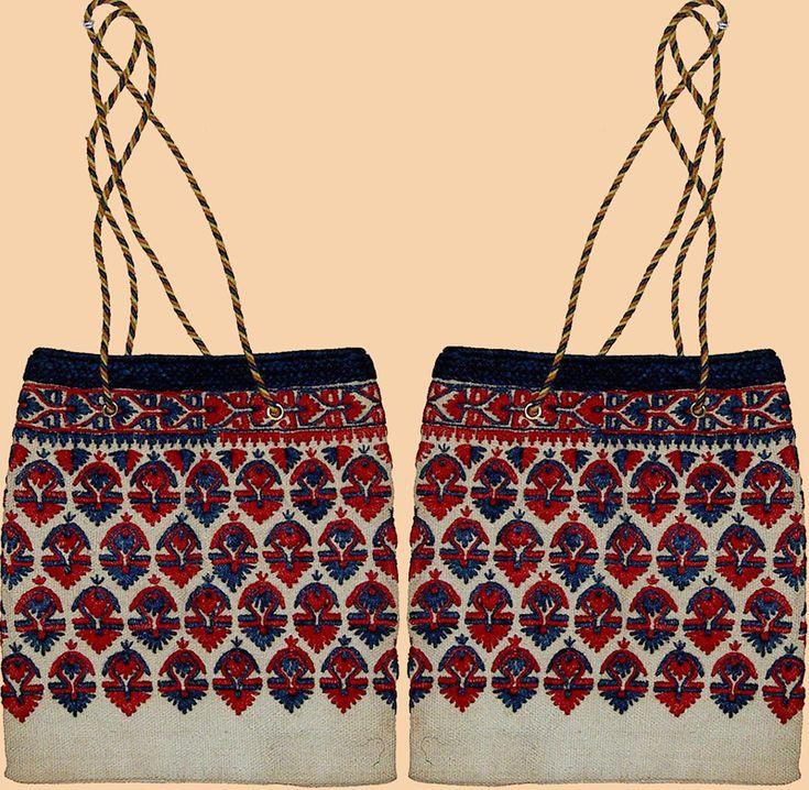 Antique Greek Embroidery Hand Bag Circa 1920