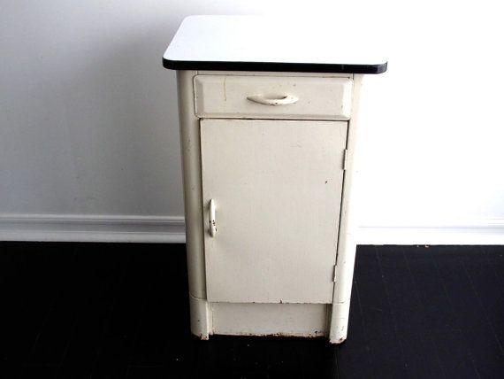 49 best old enamel cabinets images on pinterest cabinets for White enamel kitchen cabinets